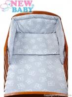 2-dielné posteľné obliečky New Baby 100/135 cm Medvede sivé NEW BABY