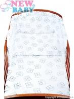 2-dielné posteľné obliečky New Baby 100/135 cm Medvede biele NEW BABY