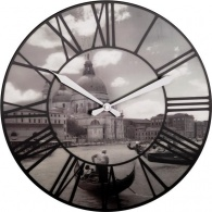 Designové nástěnné 3D hodiny 3106 Nextime Venice 40cm