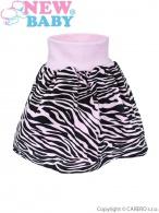 Detská suknička New Baby Zebra ružová NEW BABY