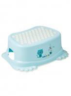 Detské protišmykové stúpadlo do kúpeľne Psíček a Mačička modré TEGA