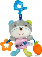 Detská plyšová hračka so zvukom Baby Mix macko BABY MIX