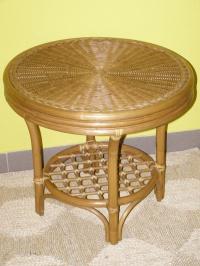 Ratanový stolek JANEIRO - světlý