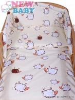 3-dielne posteľné obliečky New Baby 90/120 cm Ovečky béžové NEW BABY