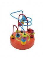 Drevená edukačná hračka Baby Mix labyrint oranžová BABY MIX