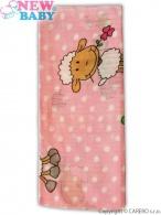 Bavlnená plienka s potlačou New Baby ružová s ovečkou NEW BABY