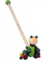 Drevená jazdiaca hračka Baby Mix žaba BABY MIX