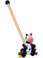 Drevená jazdiaca hračka Baby Mix kravička BABY MIX