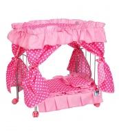 Postieľka s nebesami pre bábiky PlayTo  Amálka svetlo ružová PLAYTO