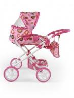 Kombinovaný kočík pre bábiky Milly Mally Paulína ružovo-hnedý MILLY MALLY