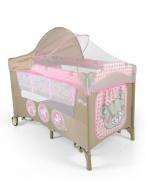 Cestovná postieľka Milly Mally Mirage Deluxe pink toys MILLY MALLY
