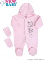 Fleecový overal New Baby Kamaráti ružový NEW BABY