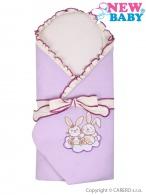 Zavinovačka s výstužou New Baby Bunnies fialová NEW BABY