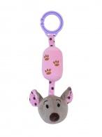 Detská plyšová hračka s rolničkou Baby Mix myška ružová BABY MIX