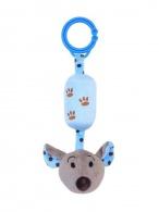 Detská plyšová hračka s rolničkou Baby Mix myška modrá BABY MIX
