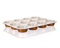 BANQUET Pečící forma na muffins keramická 12KS 35x27x3 cm Gourmet Ceramia
