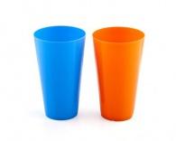 Pohár nápojový plastový dia 8,8 cm x 15 cm, asortace barev: oranž, modrá, červená, zelená