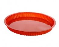 Silikonová forma na koláč 30cm červená Sildo
