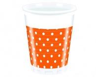 Nápojový pohár 200 ml, 8KS Orange Dots