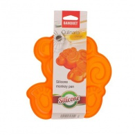 BANQUET Silikonová forma opička 19,5x19,5x4,7cm Culinarie orange
