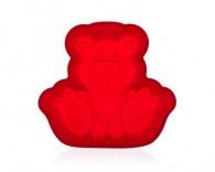 BANQUET Silikonová forma méďa 19,8x20,7x4.5cm Culinaria red