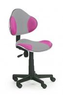 Dětská židle Flash 2 šedo-růžová