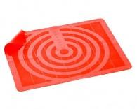 BANQUET Silikonový vál 50x40 cm Culinaria RED, měřítkový relief