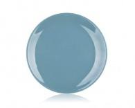 BANQUET Talíř mělký modro-šedý 26,5cm AMANDE Lesk