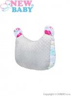 Multifunkčný vankúš z Minky New Baby bielo-sivý 55x40 cm NEW BABY