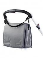 Taška na kočík s prebaľovacou podložkou CARETERO light graphite CARETERO