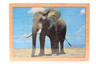 Puzzle dřevěné slon 25 dílků