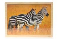 Puzzle dřevěné zebra 25 dílků