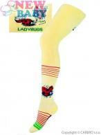 Froté pančucháčky New Baby žlté s lienkou NEW BABY