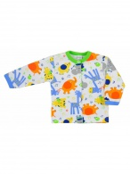 Dojčenský kabátik Bobas Fashion Zoo zelený pre chlapcov BOBAS FASHION