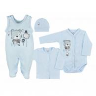 4-dielna dojčenská súprava v Eko krabičke Koala Darling modrá KOALA