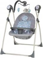 Detské ležadlo s houpátkom kolotočom a ovládačom Baby Mix grey BABY MIX