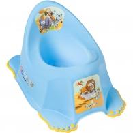Detský nočník protišmykový Safari modrý TEGA