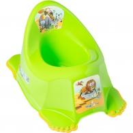 Detský nočník protišmykový Safari zelený TEGA