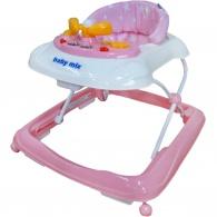 Detské chodítko Baby Mix s volantom pink BABY MIX