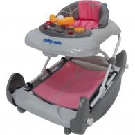 Detské chodítko s hojdačkou Baby Mix pink BABY MIX