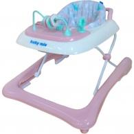 Detské chodítko Baby Mix 2v1 ružové BABY MIX