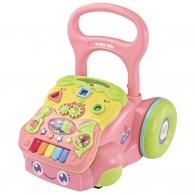 Detské hrajúce edukačné chodítko Baby Mix ružové BABY MIX