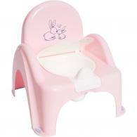 Detský nočník s poklopom Bunny ružový TEGA