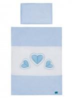 2-dielne posteľné obliečky Belisima Tri srdcia 90/120 bielo-modré BELISIMA