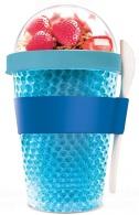 Chladící svačinový kelímek ASOBU CY2GO modrý 386ml