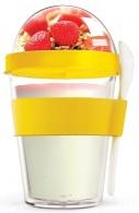 Multifunkční svačinový kelímek ASOBU YO2GO žlutý 360ml