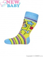 Detské bavlnené ponožky New Baby bežové s motýľom NEW BABY