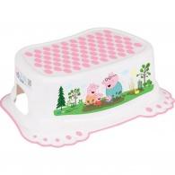 Detské protišmykové stúpadlo do kúpeľne Prasiatko Peppa white-pink TEGA