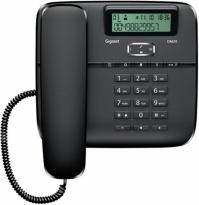 GIGASET-DA610-BLACK Gigaset - standardní telefon s displejem, barva černá