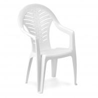 Plastová zahradní židle Oceán bílá